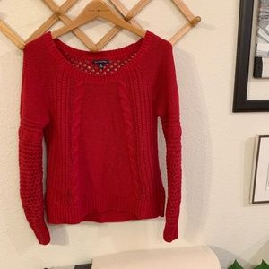 Red Knit American Eagle Outfitter Chunky Sweater